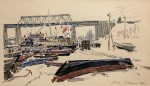 03-Станислав Никиреев - В Астрахани, цветные карандаши, 1964