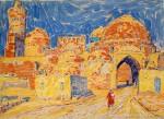 04-Станислав Никиреев - Бухара-1, цветные карандаши, 1966