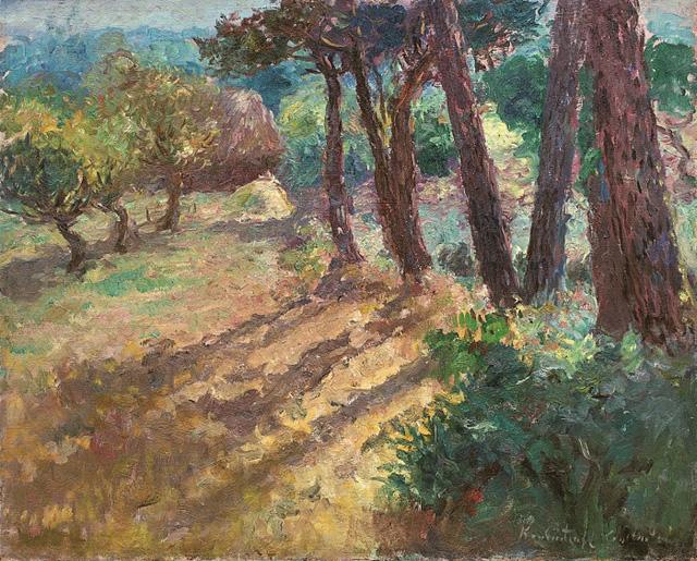 05-Константин Кузнецов_Сосны и яблони в Керфани, 1921
