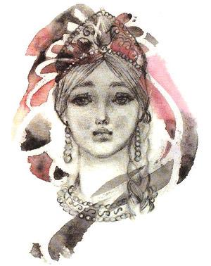 Людмила, рисунок Л. Владимирского