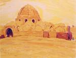 05-Станислав Никиреев - Бухара-2, цветные карандаши, 1966