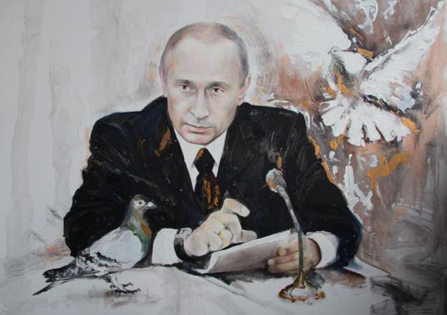 Путин и голуби