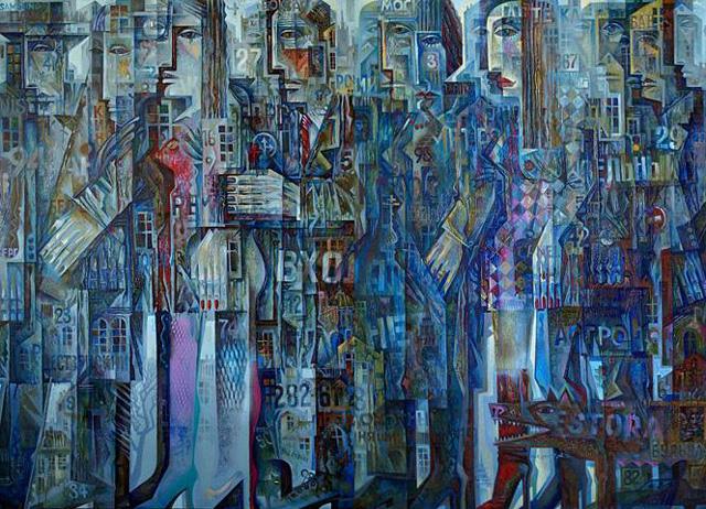 09-Сергей Чесноков-Ладыженский_Москвичи (диптих) 2006-09
