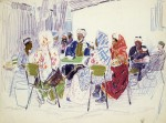 09-Станислав Никиреев - Самарканд.Чайхона, цветные карандаши, 1965