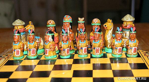 Индейское шахматное войско
