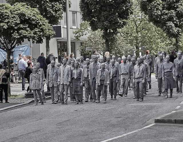 Перформанс в Гамбурге (июль 2017)