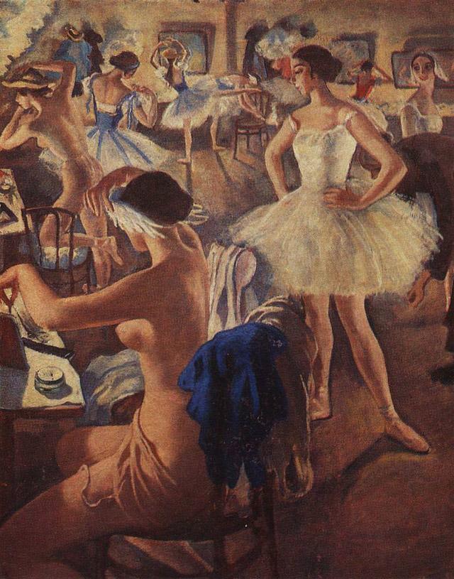 10_Зинаида Серебрякова_ В балетной уборной-Лебединое озеро (1924)