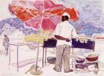 11-Станислав Никиреев - Киргизия, цветные карандаши, 1965