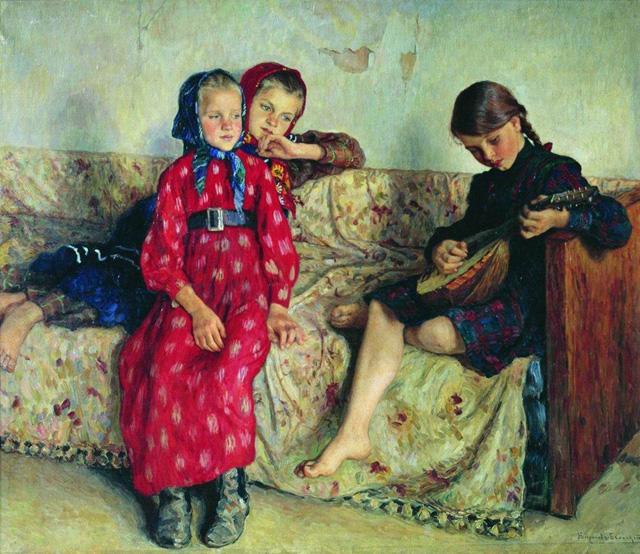 12-Н. П. Богданов-Бельский_Деревенские друзья. 1912