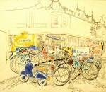 12-Станислав Никиреев - Мукачево, цветные карандаши, 1965