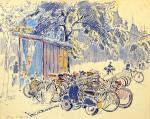 13-Станислав Никиреев - В Мукачеве, цветные карандаши, 1965
