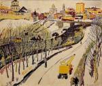 15-Станислав Никиреев - Московский мотив, цветные карандаши, 1968