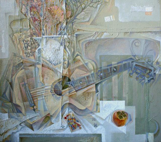 16-Сергей Чесноков-Ладыженский_Натюрморт с гитарой 2009-10