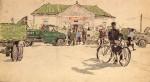16-Станислав Никиреев - Село Доброе-2, цветные карандаши, 1962