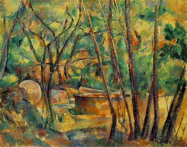16_Well- Millstone and Cistern Under Trees (1892)