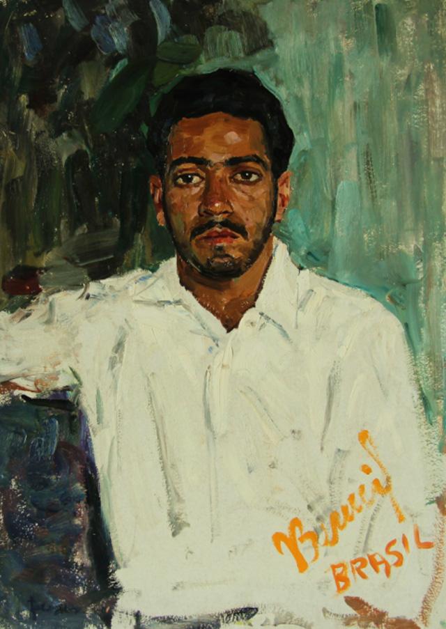 17-Владимир Гремитских - Портрет киноактёра Жоао Беннио, Бразилия (1957)