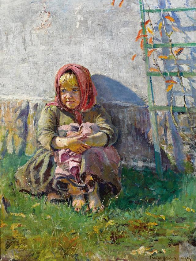 17-Н. П. Богданов-Бельский_Маленькая девочка в саду