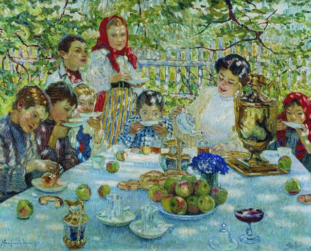 19-Н. П. Богданов-Бельский_День рождения учительницы. 1920