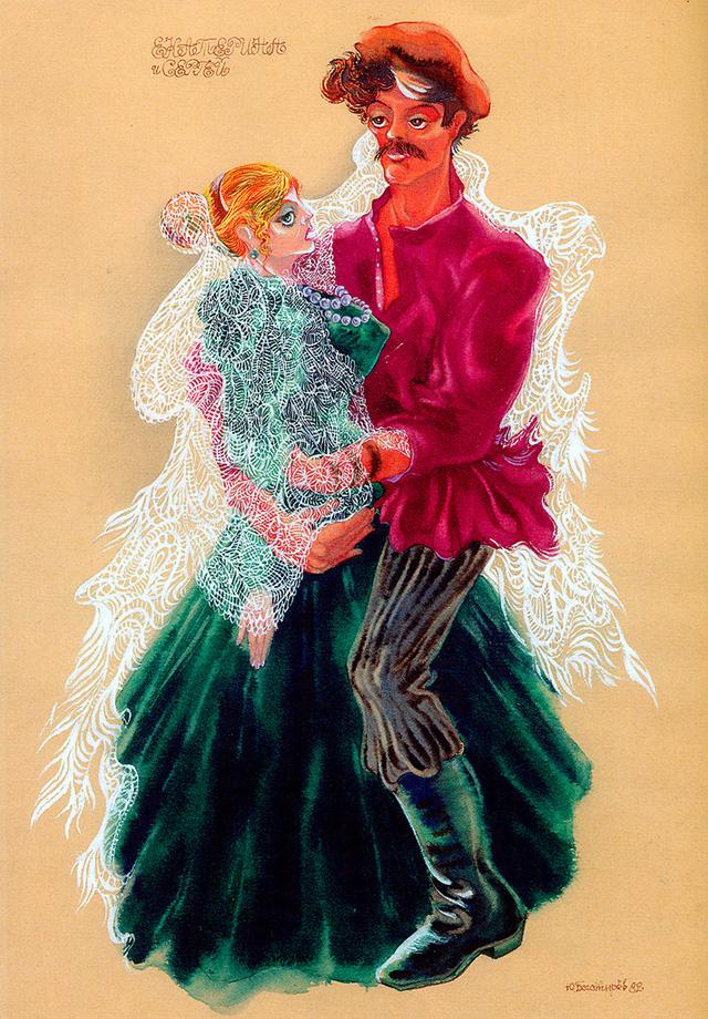 20-Наталья Гунадарева и Виктор Корешков в постановке театра Маяковского «Леди Макбет Мценского уезда», 1982 год