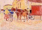 20-Станислав Никиреев - В хлебопекарне. Село Доброе, цветные карандаши, 1962