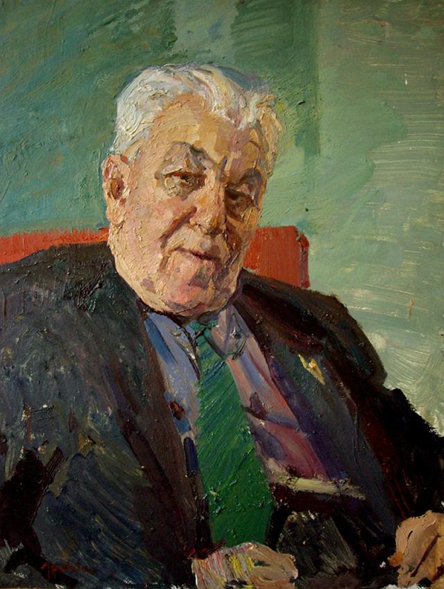 21-Владимир Гремитских - Портрет профессора Звягинцева (1972)