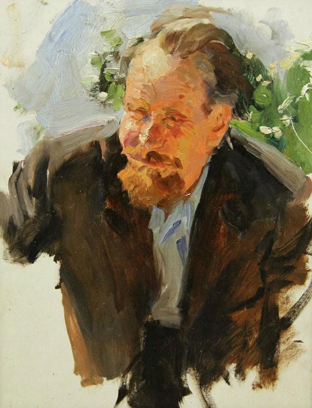 24-Владимир Гремитских - Портрет художника Петра Андрианова (1977)