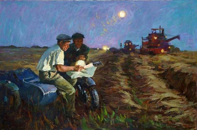 24_Янев Анатолий Никитович (1945)_Ночная жатва