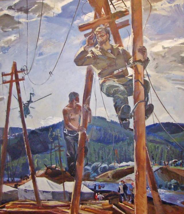 25_Жемерикин Вячеслав Федорович (1942-2005)_Над Киренгой (1976)