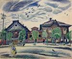 27-Станислав Никиреев - Череповец-2, цветные карандаши, 1971