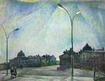 28-Станислав Никиреев - Первый вариант рисунка «Вологда. Белая ночь», цветные карандаши, 1971