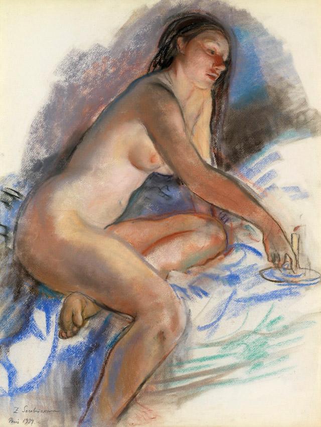 29_Зинаида Серебрякова_ Обнаженная со свечой (1934)