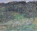34-Станислав Никиреев - Осень. Шор-тайга, цветные карандаши, 1978