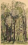 35-Станислав Никиреев - Зеленое кружево, цветные карандаши, 1965