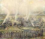 36-Станислав Никиреев - Усть-Кабырза, цветные карандаши, 1972