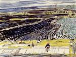 37-Станислав Никиреев - Поле, цветные карандаши, 1964