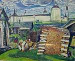 39-Станислав Никиреев Берёзовые дрова, цветные карандаши, 1971