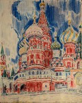 41-Станислав Никиреев - Собор Василия блаженного, цветные карандаши, 1964