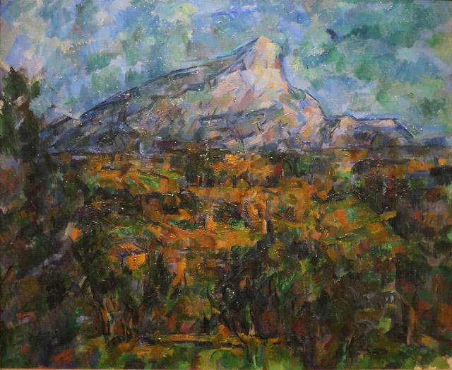 45_Landscape at Aix, La Montagne Sainte-Victoire (c. 1906)