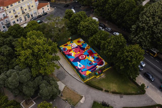 Баскетбольная площадка в Лиссабоне