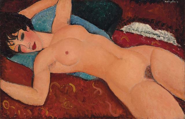 Amedeo Modigliani - Nu couché (1917-18), фото © Christie's (2015)