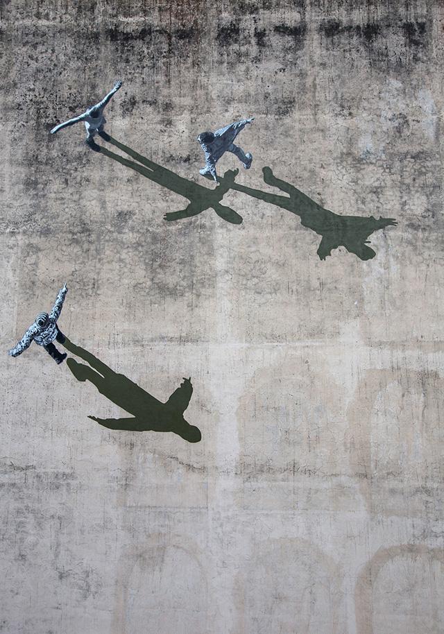 настенная фреска Андерса Йеннестада, 2014, Италия