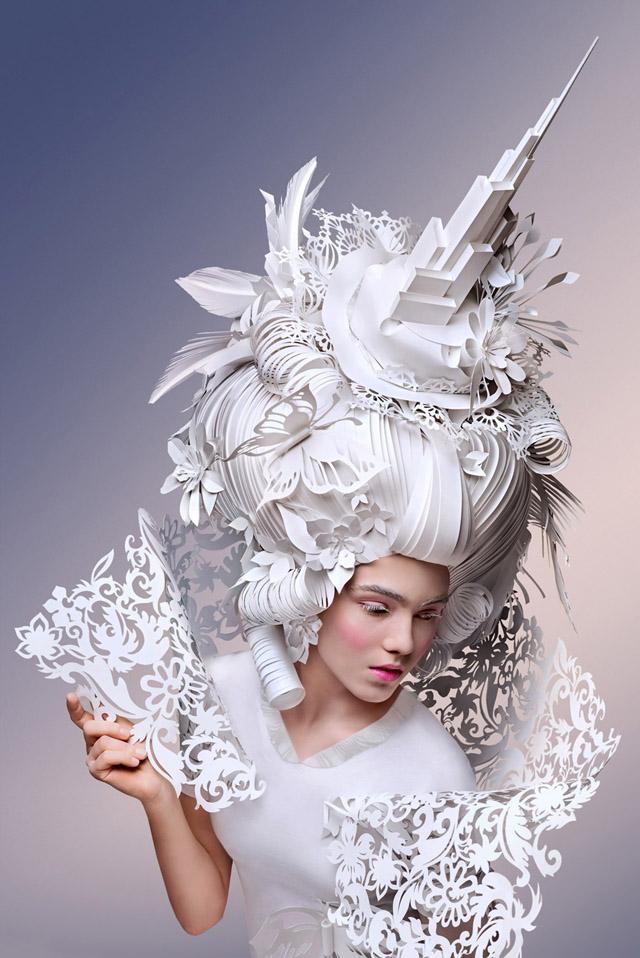 Бумажный парик Аси Козиной (Россия)