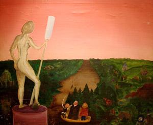 """БГ. Вожди мирового пролетариата находят в руинах исчезнувшей цивилизации оригинал статуи """"Девушка с веслом"""""""