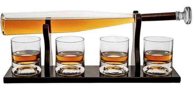 Baseball Whiskey and Spirits Decanter Set-01