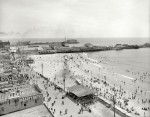 Beach and Boardwalk, Atlantic City, circa 1906