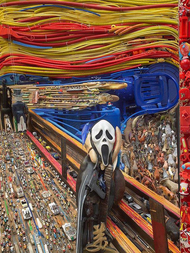 Инсталляция Бернара Пра - «Крик» Эдварда Мунка