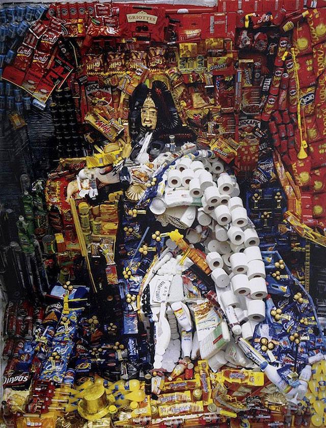 анаморфная иллюзия Бернара Пра (Франция)