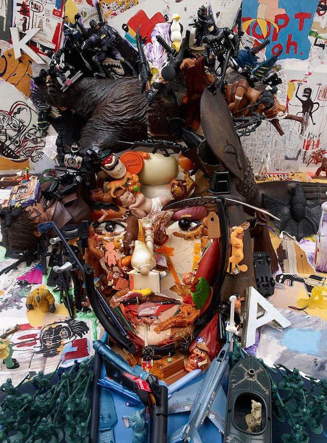 портрет-инсталляция французского художника Бернара Пра