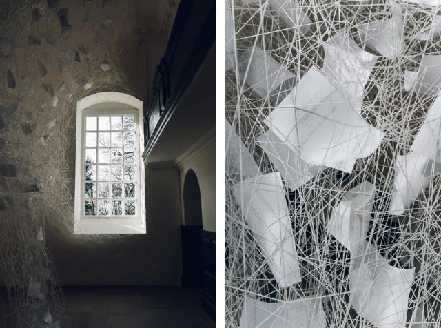 Работа японской художницы Чихары Шиоты (Chiharu Shiota)
