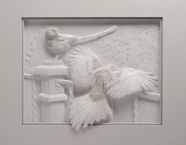 скульптура из бумаги от канадского скульптора Келвина Николса
